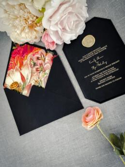 Bouquet Wedding Invitation Design - Victorian Garden