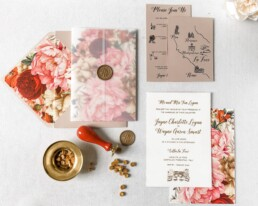 La Foce Wedding Invitation