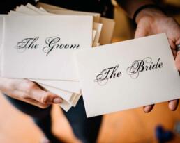Bespoke Wedding Menu and Stationery