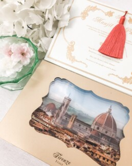 Custom Made Wedding Invitation Box - Florence Dream