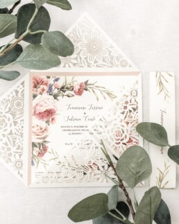 Laser cut Nature Wedding Invitations