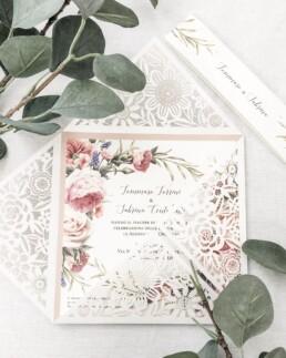 Laser cut Nature Wedding Invitations