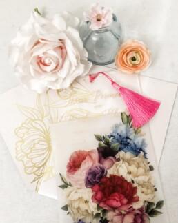 Translucent Vellum Paper Wedding Invitations - Aesthetic Love