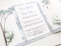 Watercolour Gatefold Wedding Invitations